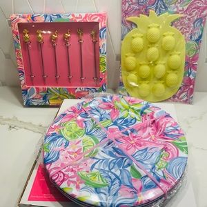 New Lily Pulitzer GWP - Entertaining Set